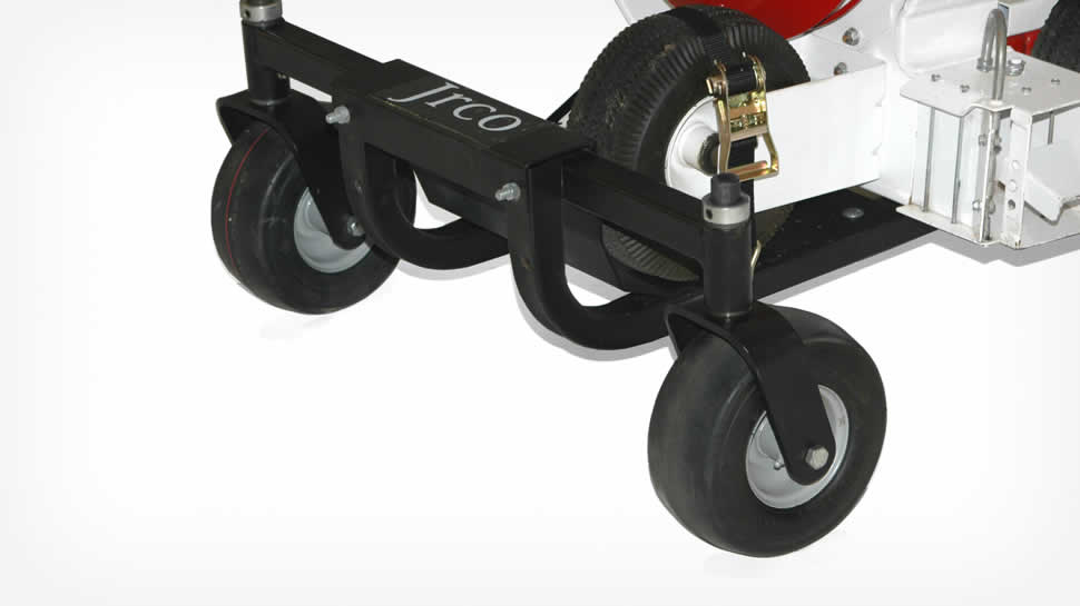 Heavy-duty solid stem swivel casters for easy maneuverability.