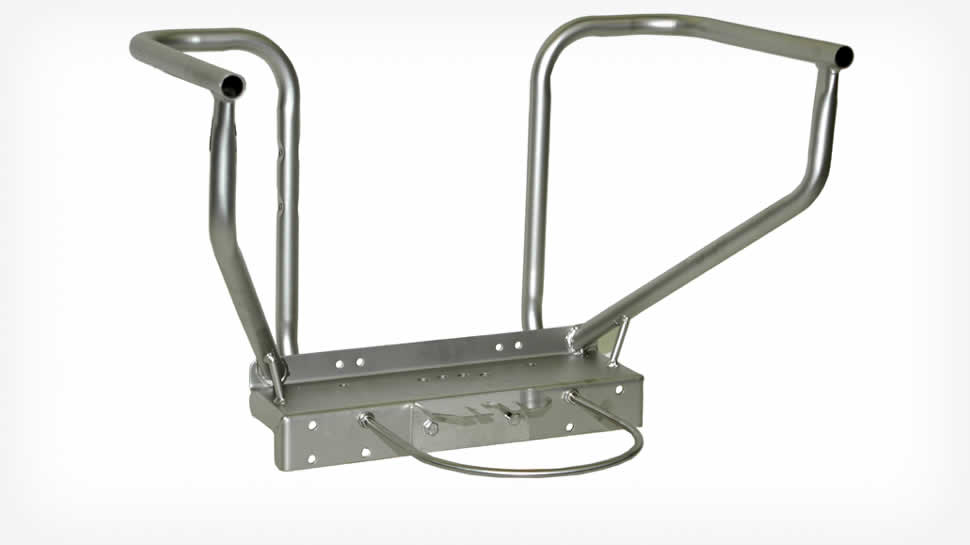 All stainless steel, rugged tubular frame.