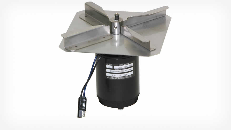 JRCO engineered heavy-duty direct drive, sealed motor and stainless steel fan.