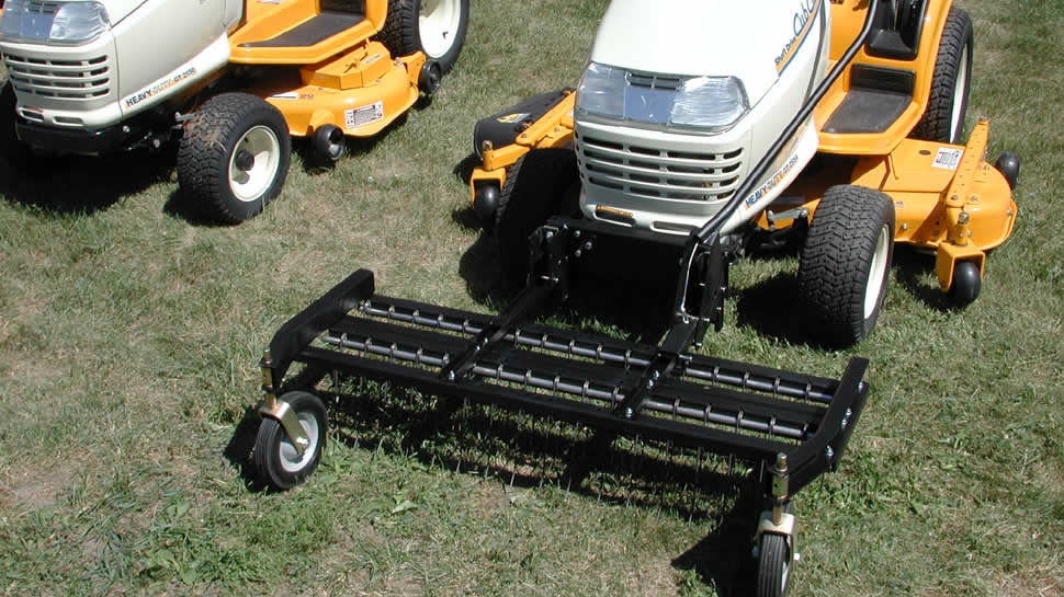 The JRCO Tine Rake Dethatcher fits select Riding mowers and Lawn & Garden Tractors.
