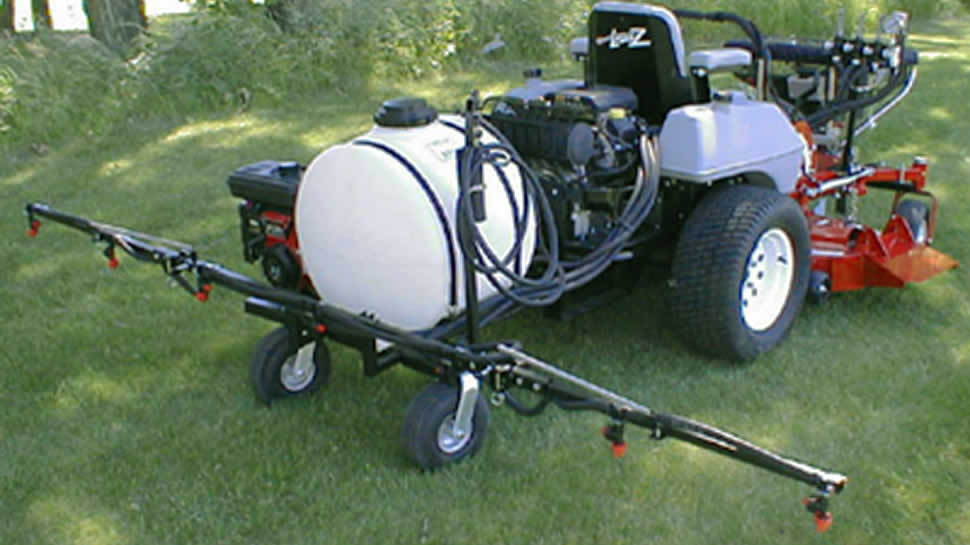 The JRCO Zero-turn Sprayer, and the JRCO Electric Broadcast Spreader makes your mower a complete application vehicle